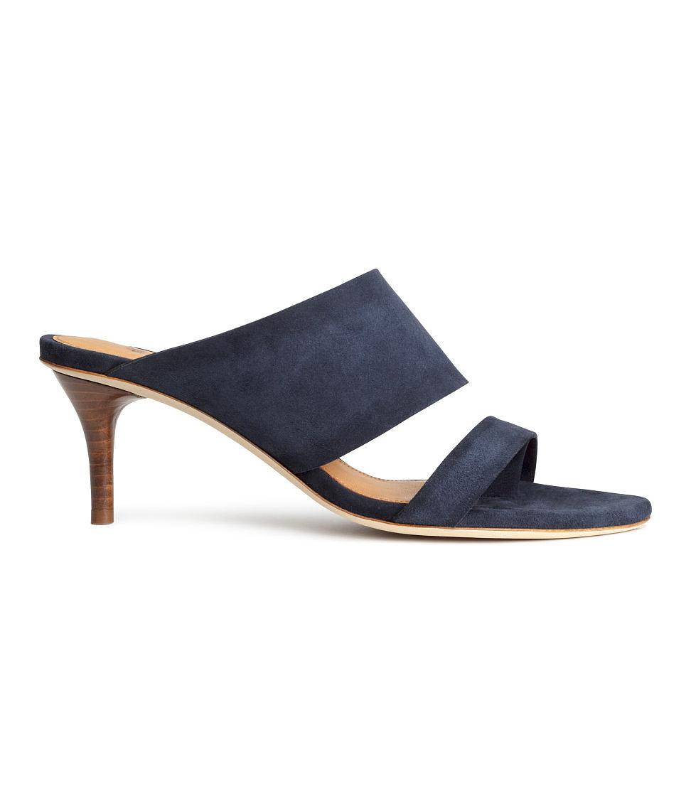 H&M Blue Suede Mules