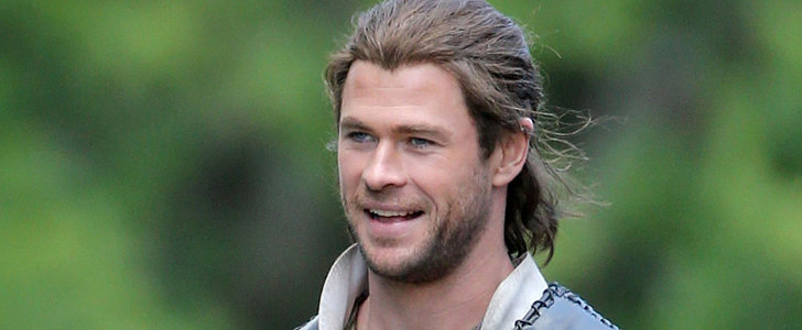 Time to Drool Over Chris Hemsworth on the Set of The Huntsman