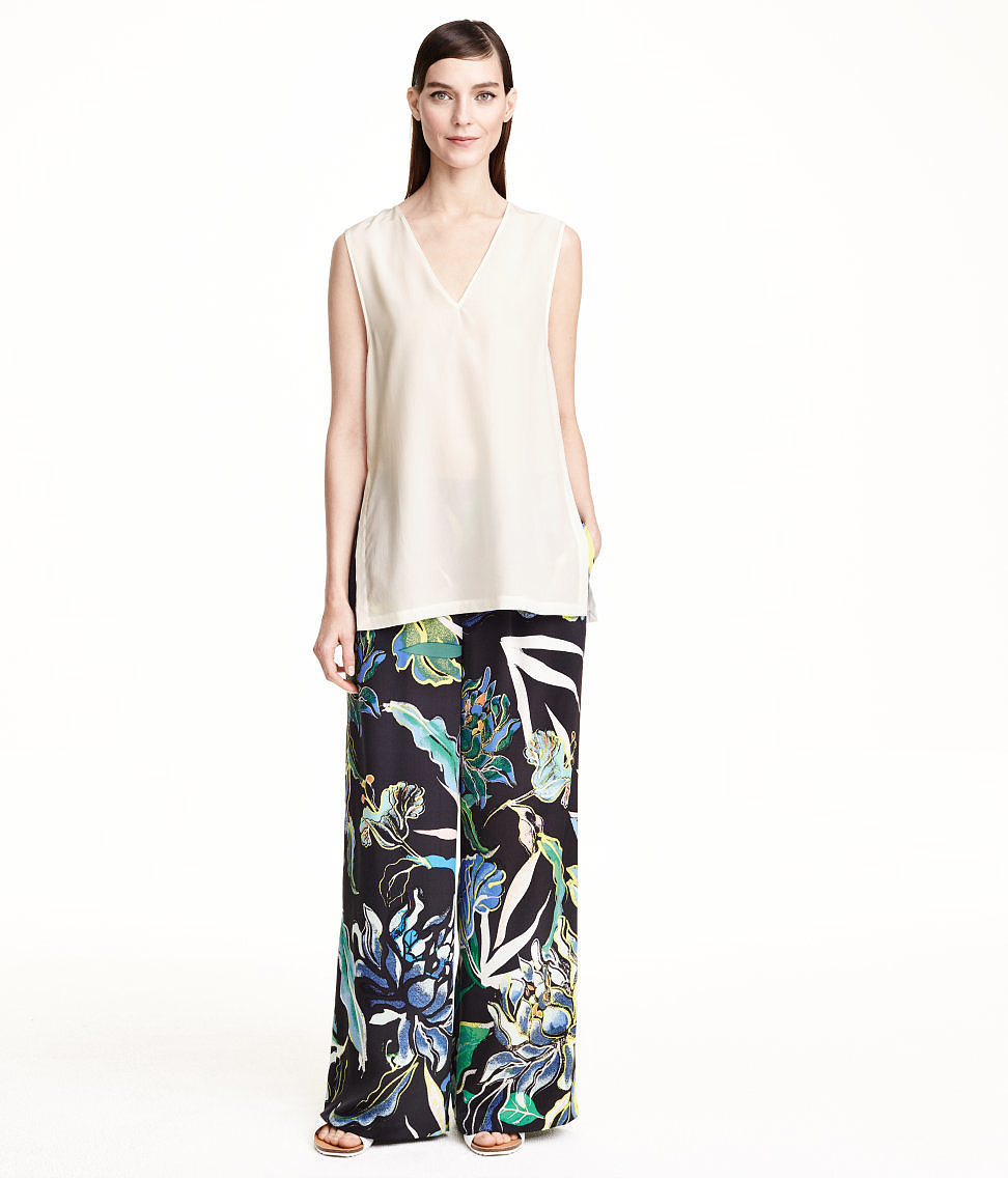 H&M Patterned Silk Pants ($129)