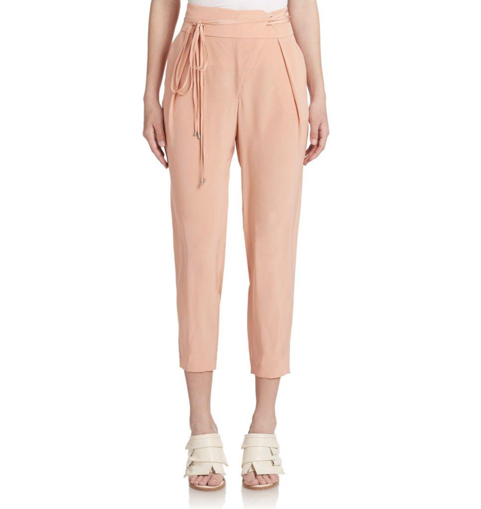 Tibi Cropped Silk Pants ($350)