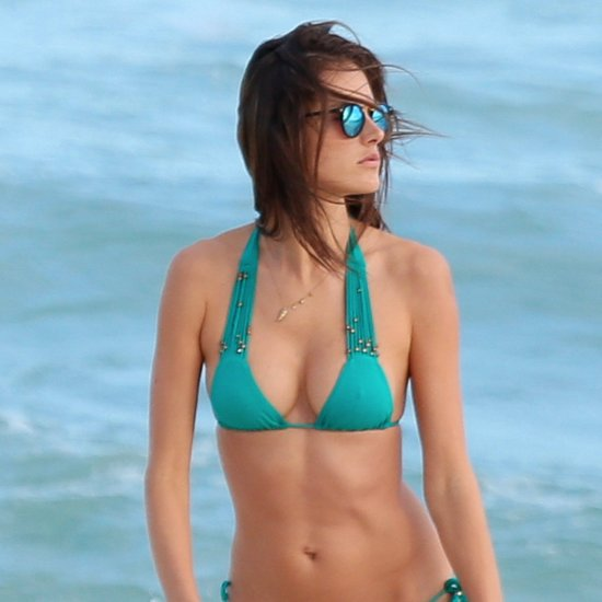 Alessandra Ambrosio Wearing a Bikini in Brazil Pictures