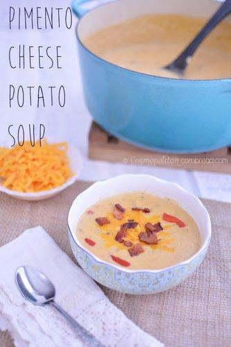 Pimento Cheese Potato Soup from Cosmopolitan Cornbread