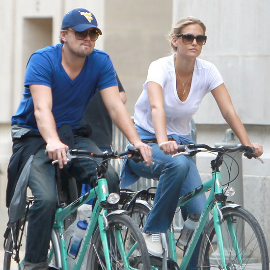 Leonardo DiCaprio Riding Bikes
