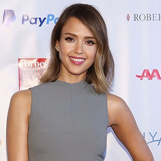 Jessica Alba Perks Up Business Dress