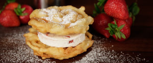 Bring the Carnival Home With a Funnel Cake Ice Cream Sandwich