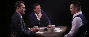 Watch True Detective's Colin Farrell and Vince Vaughn Interrogate Jimmy Fallon