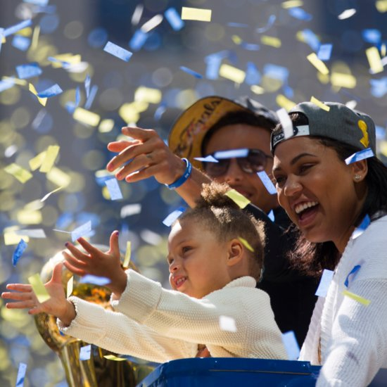 Steph Curry and His Family at Warriors Parade 2015