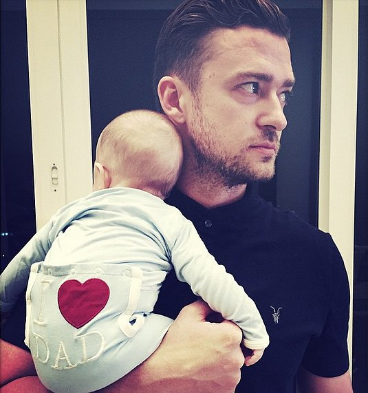 Justin Timberlake and David Beckham Proudly Share Their Father's Day Photos