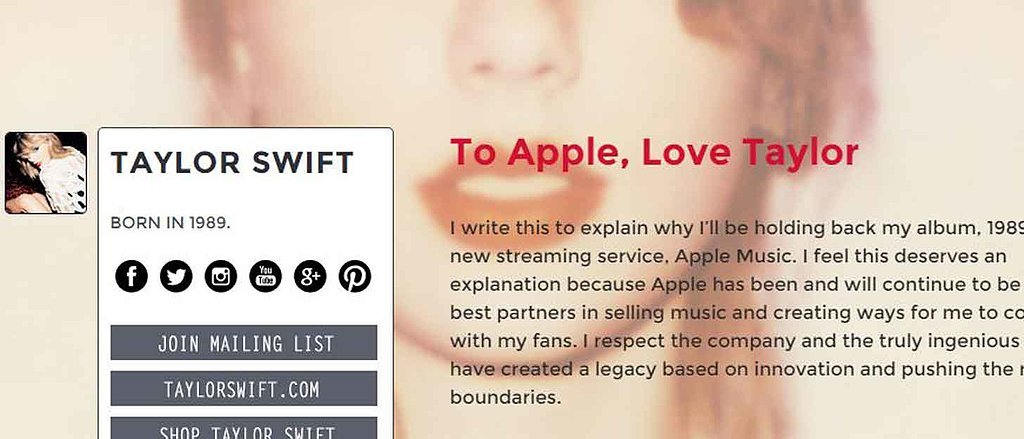Update: Taylor Swift Responds to the Apple Music Drama