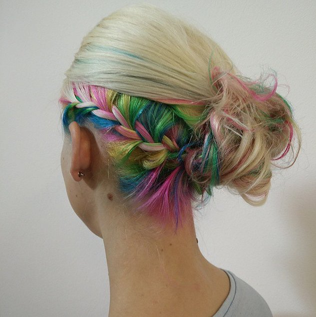 Undercut Color 13 Rainbow Braids That Are To Dye For