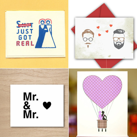 """Say """"Congrats!"""" to Your Gay Loved Ones With These 16 Greeting and Wedding Cards"""