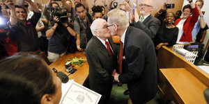After 54 Years Together, Jack Evans And George Harris Become First Same-Sex Couple To Marry In Dallas