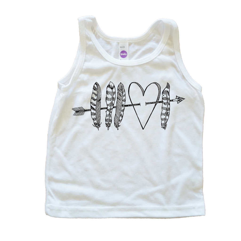 Feathers and Hearts Tank