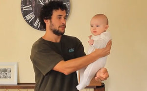 Dad Shows 17 Creative Ways To Hold A Baby