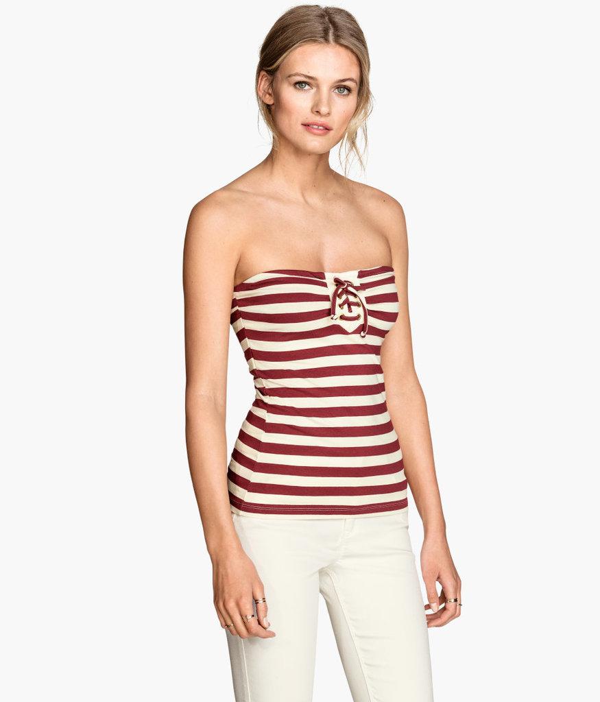 H&M Striped Tube Top