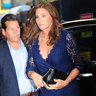 Caitlyn Jenner Wearing Blue Lace Dress