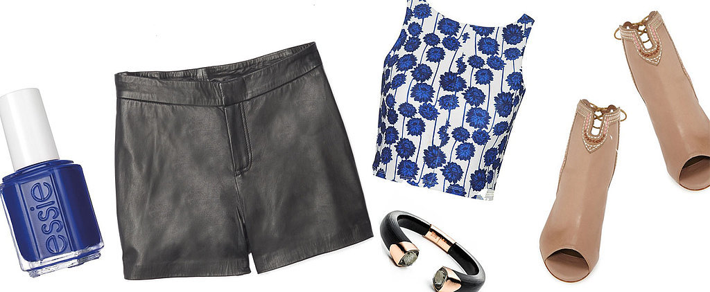 How to Wear Black Leather Shorts Even in Summer