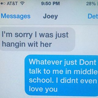 11-Year-Old Writes Sassy Breakup Text