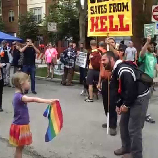 This Little Girl Standing Up to an Antigay Preacher Will Inspire You