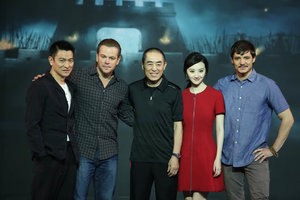 Matt Damon Andy Lau Luhan promote The Great Wall