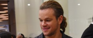 Matt Damon Debuts a Lush Ponytail in China, and We Might Just Be Feeling It