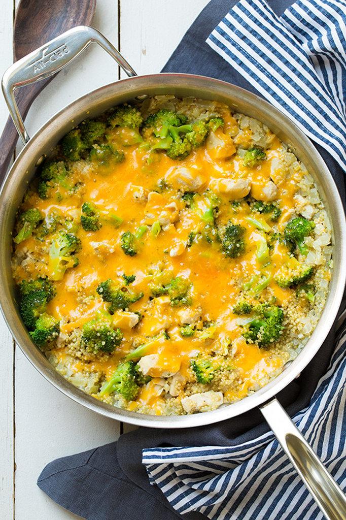 Cheesy Chicken, Quinoa, and Broccoli
