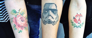 These Cross-Stitch Tattoos Are Trippy but Awesome