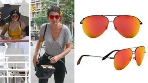 Kendall & Kylie Really Love These $500 Victoria Beckham Aviator Sunglasses
