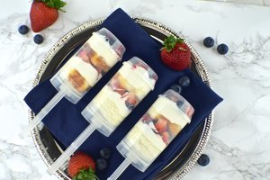 Patriotic Berry Pound Cake Push Pops