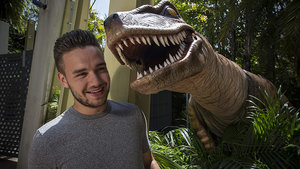 One Direction's Liam Payne Gets Gets Up Close and Personal with Dinos at Universal Orlando