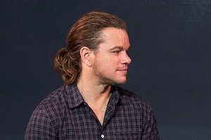Matt Damon Has A Ponytail Now