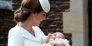 Princess Charlotte's Christening Is A Fashionable Event For Duchess Kate And The Royal Family