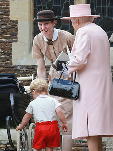 See Prince George's Nanny in the Mary Poppins-Style Uniform She Wore to Princess Charlotte's Christening