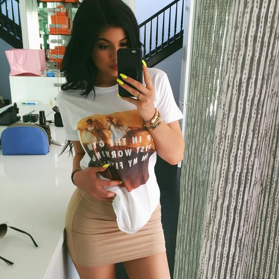 Kylie Jenner Wears Rad.co Graphic T-Shirt