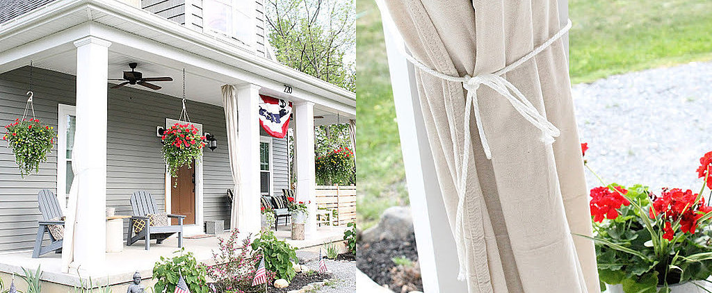 This $10 Solution For Adding Privacy and Shade to Your Porch Is Brilliant