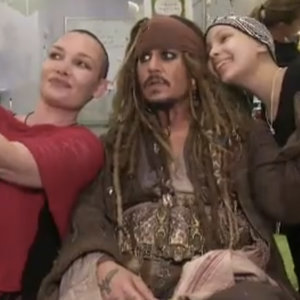 Johnny Depp as Captain Sparrow at Children's Hospital Video