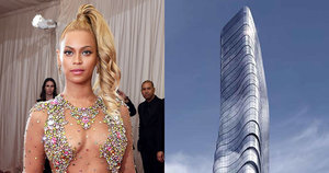 Beyoncé's Curves Immortalized in a Skyscraper