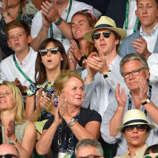 Benedict Cumberbatch and Sophie Hunter at Wimbledon 2015