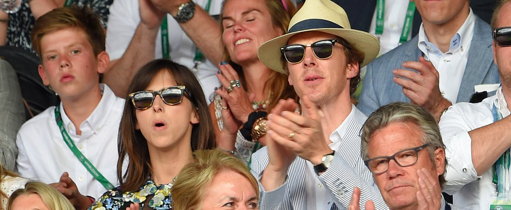 Benedict Cumberbatch and Sophie Hunter Have a Winning Wimbledon Outing