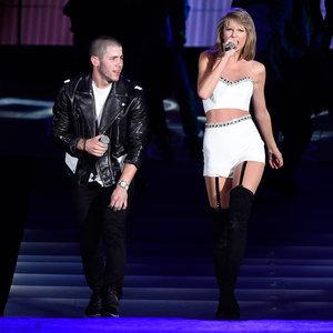 Taylor Swift on Stage With Nick Jonas and Uzo Aduba | Photos