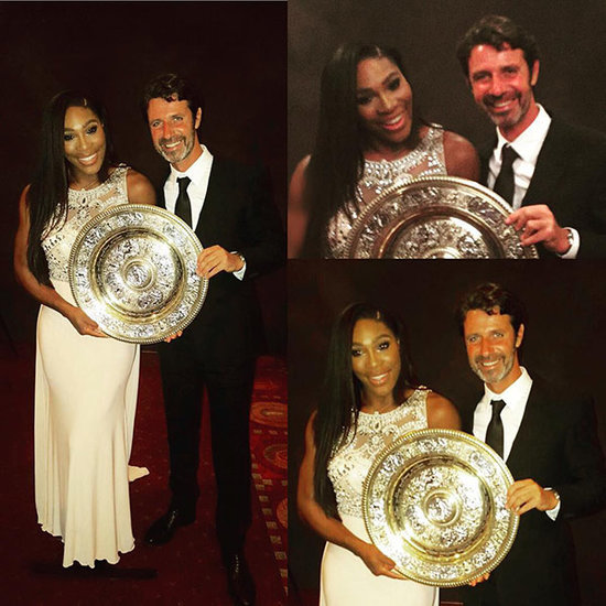 Serena Williams Revels in Wimbledon Victory with Hunky Coach Patrick Mouratoglou