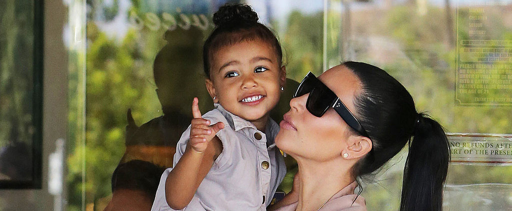 Kim Kardashian Shows Off Her Growing Baby Bump on a Movie Date With North