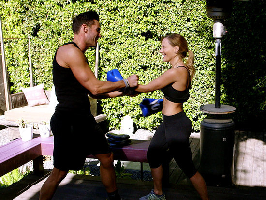 WATCH: Julie Benz Shows Off 6-Pack Abs in Hollywood Cycle
