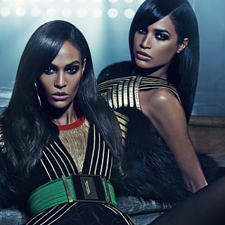 Joan Smalls and Sister Balmain Ad