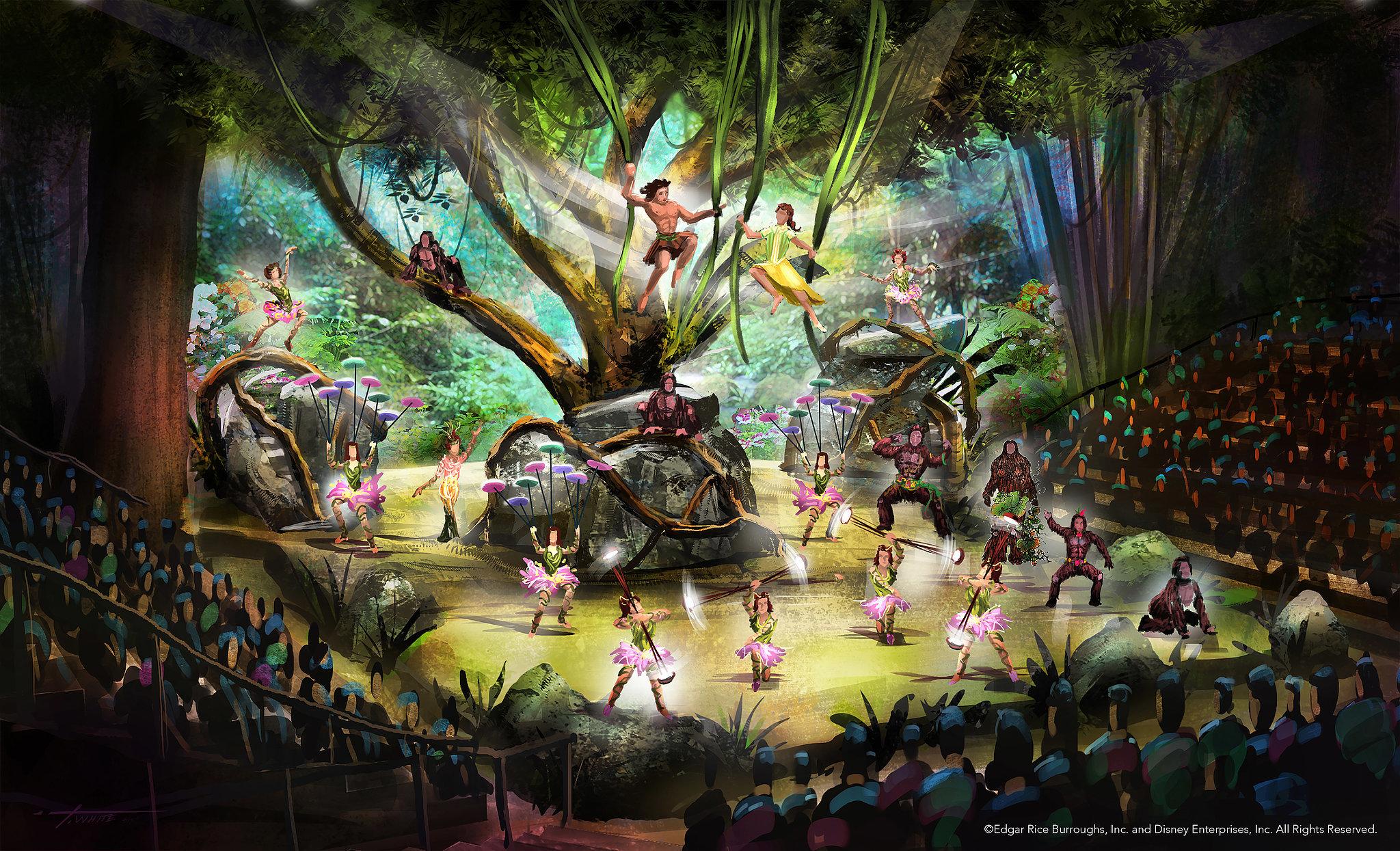 Quot Tarzan Call Of The Jungle Quot Rendering Shanghai Disney