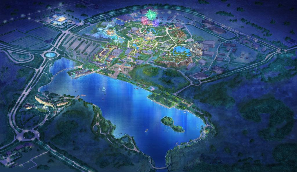 上海迪士尼度假區鳥瞰圖