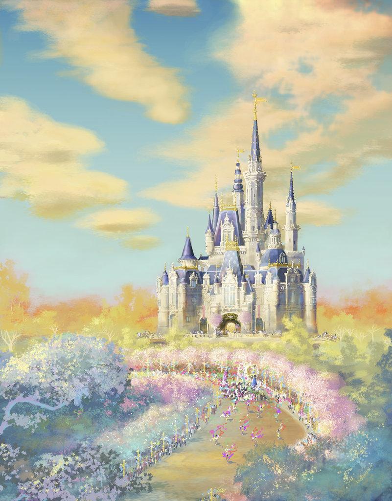 魔法童話城堡渲染