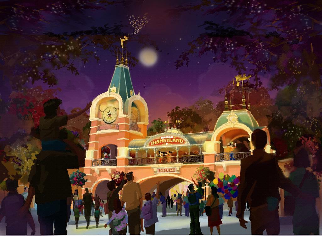 入口上海迪士尼渲染