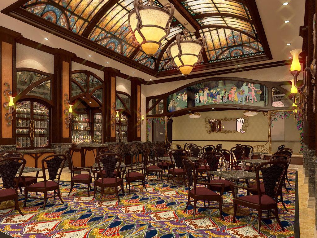 上海迪士尼樂園酒店巴克斯酒廊渲染