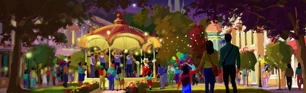 慶典廣場上的米奇大道渲染